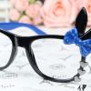 แว่นตาแฟชั่นเกาหลี กระต่ายดำน้ำเงิน (ไม่มีเลนส์)