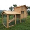 บ้านสัตว์เลี้ยง บ้านหมา บ้านแมว กระต่ายหนูไก่ นก อากาศถ่ายเทได้สะดวก 2 ชั้น ชั้นบนมีห้องเล็กยื่นออกมา ขนาดกลาง สีไม้ธรรมชาติ