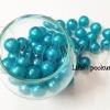 ลูกปัดมุกพลาสติก 12มิล สีฟ้า (120 กรัม)