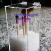 กล่องแปรงแต่งหน้า ขนาดเล็ก size L ลูกปัดสีใส