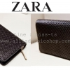 กระเป๋าสตางค์แบรนด์ ZARA WALLET สีดำ