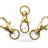 พวงกุญแจหนีบ แบบก้ามปู สีทอง (10 ตัว)