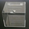 กล่องรับความคิดเห็นใส ขนาด 8x8x8 นิ้ว แบบเปิดฝาด้านบน