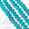 คริสตัลโมดาห์ 8มม. ทรงซาลาเปา สีฟ้า (72 เม็ด)