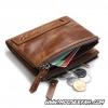 กระเป๋าสตางค์ผู้ชาย JB-002 [สีน้ำตาล มีซิป]