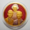 เหรียญในหลวง ร.๙ - ร.๘ - สมเด็จย่า ปี 2543 พิมพ์ใหญ่ ที่ระลึกพระราชานุสาวรีย์ฯ เนื้อสามกษัตริย์