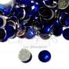 เพชรครึ่งซีก 10มม. ทรงกลม สีน้ำเงิน (100 ชิ้น)