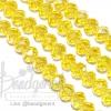คริสตัลโมดาห์ 8มม. ทรงซาลาเปา สีเหลืองดอกคูณ (72 เม็ด)