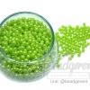 ลูกปัดมุกพลาสติก 4มิล สีเขียวตอง (450 กรัม)