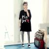 เสื้อ oversize สีดำสกรีนลายParis