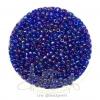 ลูกปัดเม็ดทราย 8/0 โทนรุ้ง สีน้ำเงิน (100 กรัม)