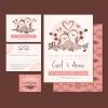 การ์ดแต่งงาน Wedding card สไตล์การออกแบบดีไซน์แบบวินเทจตกแต่งโดยใช้นกมาจัดวางเพิ่มความโดดเด่นให้แก่การ์ดแต่งงาน การ์ดงานแต่ง ไว้สำหรับ เรียนเชิญแขกผู้มีเกียรติเข้ามาร่วมงานแต่งงาน // ตัวอย่างดีไซน์ การ์ดแต่งงาน การ์ดเชิญ การ์ดสวยๆ