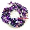 หิน Purple Agate 6มิล (60 เม็ด)