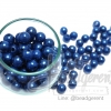 ลูกปัดมุกพลาสติก 10มิล สีน้ำเงิน (120 กรัม)