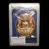 เหรียญพุทโธนั่งบัว เนื้อสัตตะ รุ่น ปฏิสังขรณ์อุโบสถ วัดช้าง จ.อยุธยา ปี 2558 ปลุกเสกโดย 12 เกจิดังสายอยุธยา
