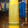 ผ้าซิ่นศิลามณี สีเหลืองสลับเขียว