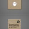 ไอเดียสำหรับการพิมพ์ สติ๊กเกอร์ฉลากสินค้า // สไตล์การออกแบบ ดีไซน์แบบเรียบๆ แต่มีสไตล์ ฉลากไว้ใช้สำหรับ แปะกับซองกระดาษ ถุงกระดาษ