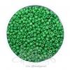 ลูกปัดเม็ดทราย 8/0 โทนด้าน สีเขียวเข้ม (100 กรัม)