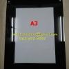 กรอบติดผนังขนาดใส่กระดาษ A3 สีดำ แบบซองสอด (ไม่เจาะผนัง)