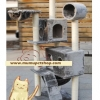 MU0081 คอนโดแมวเจ็ดชั้น ขนาดใหญ่ ต้นไม้แมว มีบ้านอุโมงค์ เปลนอน บันได กระบะนอน ของเล่นแขวน สูง 160 cm