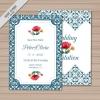 การ์ดแต่งงาน Wedding card สไตล์การออกแบบดีไซน์โดดเด่นลงตัวสุดๆโดยใช้กราฟิกสีน้ำเงินตัดกับพื้นสีขาว การ์ดงานแต่ง ไว้สำหรับ เรียนเชิญแขกผู้มีเกียรติเข้ามาร่วมงานแต่งงาน // ตัวอย่างดีไซน์ การ์ดแต่งงาน การ์ดเชิญ การ์ดสวยๆ