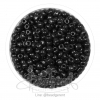 ลูกปัดเม็ดทราย 6/0 โทนด้าน สีดำ (100 กรัม)