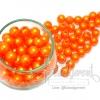 ลูกปัดมุกพลาสติก 10มิล สีส้ม (120 กรัม)