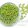 ลูกปัดมุกพลาสติก 5มิล สีเขียว (120 กรัม)