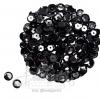เลื่อมจาน 8มิล สีดำ (500 กรัม)