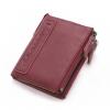 กระเป๋าสตางค์ผู้ชาย JB-004 [สีแดง มีซิป]