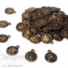 จี้อะคริลิค สีสนิม 11มม. ลายเหรียญเล็ก (135 กรัม)