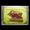 วัวธนู ครูบาบุญมา สุภัทโท วัดสามัคคีธรรม จ.ลำปาง ปี 2558 เนื้อทองแดง