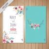การ์ดแต่งงาน Wedding card สไตล์การออกแบบดีไซน์นำเอาดอกไม้ที่มีสีสันสวยงามมาตกแต่งและจัดวางตัวหนังสือได้อย่างลงตัว การ์ดงานแต่ง ไว้สำหรับ เรียนเชิญแขกผู้มีเกียรติเข้ามาร่วมงานแต่งงาน // ตัวอย่างดีไซน์ การ์ดแต่งงาน การ์ดเชิญ การ์ดสวยๆ