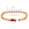 พวงกุญแจ โซ่ไข่ปลา 9ซม. สีส้ม (30 ชิ้น)