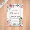 การ์ดแต่งงาน Wedding card สไตล์การออกแบบดีไซน์แบบเรียบๆแต่ตกแต่งด้วยดอกไม้เพิ่มความสดุดตาสวยงาม การ์ดงานแต่ง ไว้สำหรับ เรียนเชิญแขกผู้มีเกียรติเข้ามาร่วมงานแต่งงาน // ตัวอย่างดีไซน์ การ์ดแต่งงาน การ์ดเชิญ การ์ดสวยๆ
