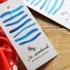 ไอเดียสำหรับการพิมพ์ ป้ายกระดาษ // สไตล์การออกแบบแบบเรียบๆ ตกแต่งด้วยลายสีน้ำสีฟ้าสดใสดูสวยงาม ป้ายกระดาษใช้สำหรับ ห้อยแขวนสินค้า ห้อยแขวนของขวัญ ป้ายเสื้อ