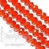 คริสตัลโมดาห์ 8มม. ทรงซาลาเปา สีส้มเข้ม (72 เม็ด)