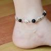 สร้อยข้อเท้า Black Pearl Fish Anklets