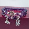 สร้อยข้อมือ Purple Ornamental fish bee Bell