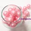 ลูกปัดมุกพลาสติก 16มิล สีชมพูอ่อน (120 กรัม)