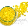 ลูกปัดมุกพลาสติก 5มิล สีเหลืองดอกคูณ (15 กรัม)