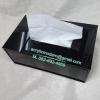 กล่องทิชชูอครีลิคสีดำ แบบเสียบด้านหน้า