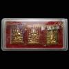เหรียญหลังโต๊ะหมู่ รุ่น กรรมฐาน 54 หลวงพ่อจรัญ วัดอัมพวัน กล่องเดิม ชุดพิเศษ ลงยา 3 สี (กะไหล่ทองลงยาสีเขียว,แดง,น้ำเงิน)