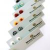 ไอเดียสำหรับการพิมพ์ ป้ายกระดาษ // สไตล์การออกแบบแบบเรียบๆ โดยใช้ชื่อแบรนด์ร้านตกแต่งเป็นแป้นต่างหู ป้ายกระดาษใช้สำหรับ ห้อยแขวนสินค้า ห้อยแขวนของขวัญ ป้ายเสื้อ