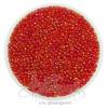 ลูกปัดเม็ดทราย 12/0 โทนรุ้ง สีแดง (100 กรัม)