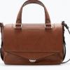 กระเป๋าแบรนด์ ZARA MINI CITY BAG WITH FLAP สีน้ำตาล