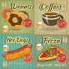 ฉลากอาหาร ของกิน สไตล์การออกแบบดีไซน์แบบวินเทจ ฉลากไว้ใช้แปะกับกระจกร้านเพื่อการตกแต่งร้านที่สวยงาม // ตัวอย่างดีไซน์ สติ๊กเกอร์ฉลาก Chill Shop Package