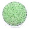 ลูกปัดเม็ดทราย 8/0 โทนมุก สีเขียว (100 กรัม)