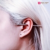 ต่างหุ เงิน แฟชั่น Rivet Ear Earrings สีทอง