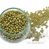 ลูกปัดมุกพลาสติก 4มิล สีเขียวแก่ (15 กรัม)